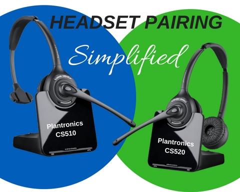 Plantronics CS510 and Plantronics CS520 wireless headsets
