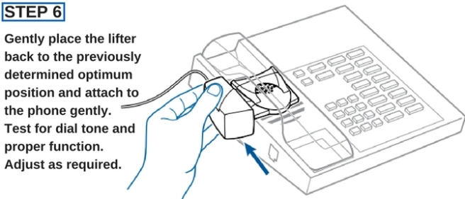 plantronics hl10 line drawing showing it being attached to a desk phone