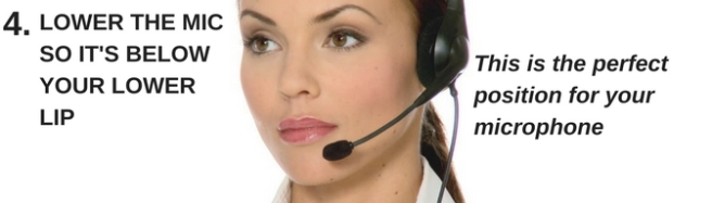 business woman wearing a headset