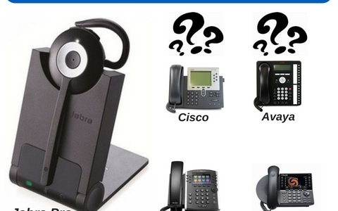 Jabra pro 920 wireless headset and 4 common office phones